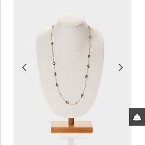 J.jill Smokey glass station necklace
